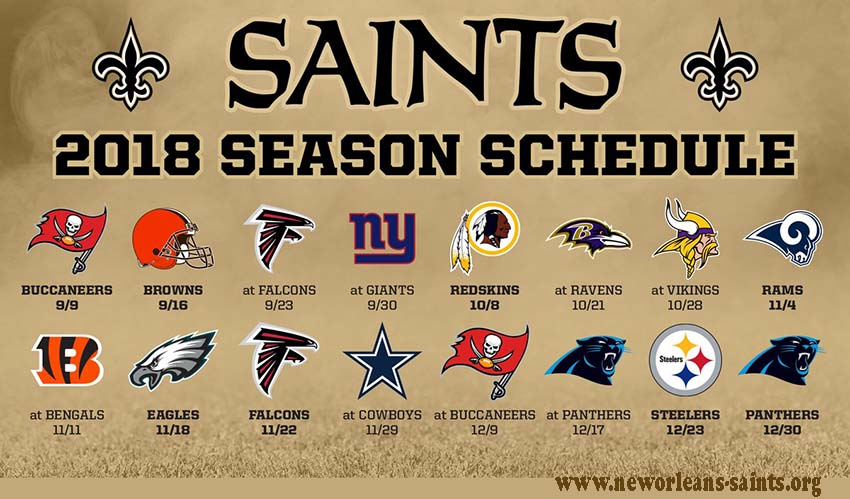 New Orleans Saints Game schedule